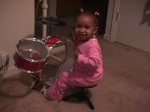 Madyson playing Drums