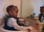 Madyson in Sink